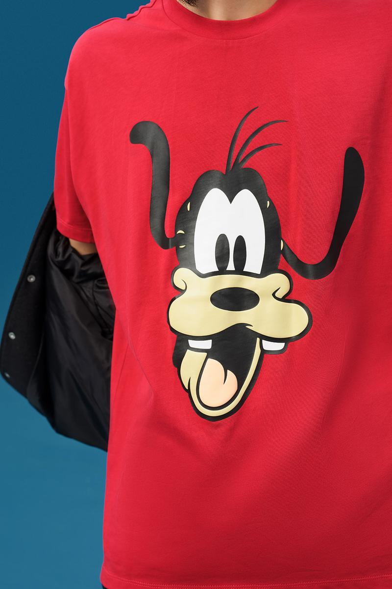 disney levis mickey and friends collaboation denim jeans red goofy shirt