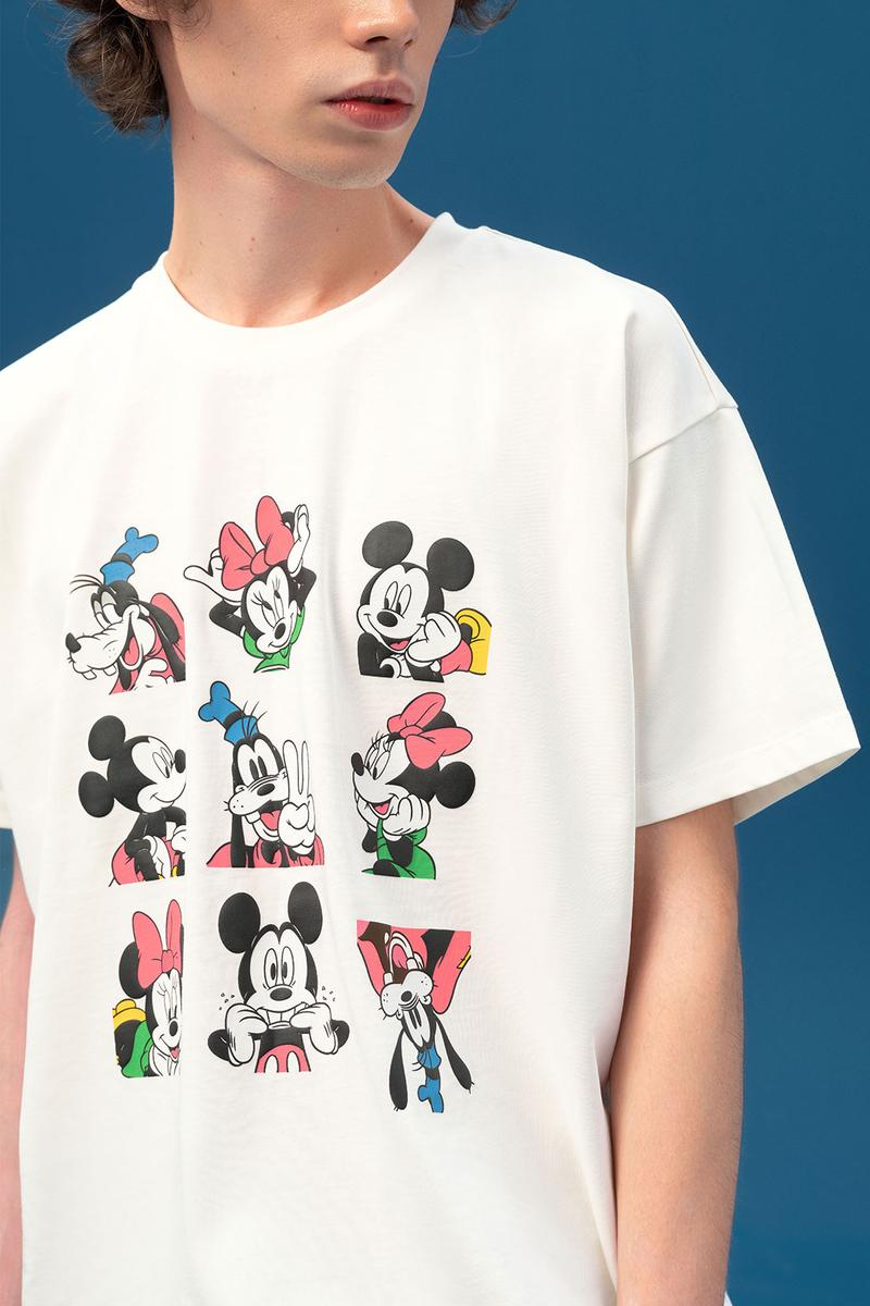 disney levis mickey and friends collaboation denim jeans white character tee shirt goofy