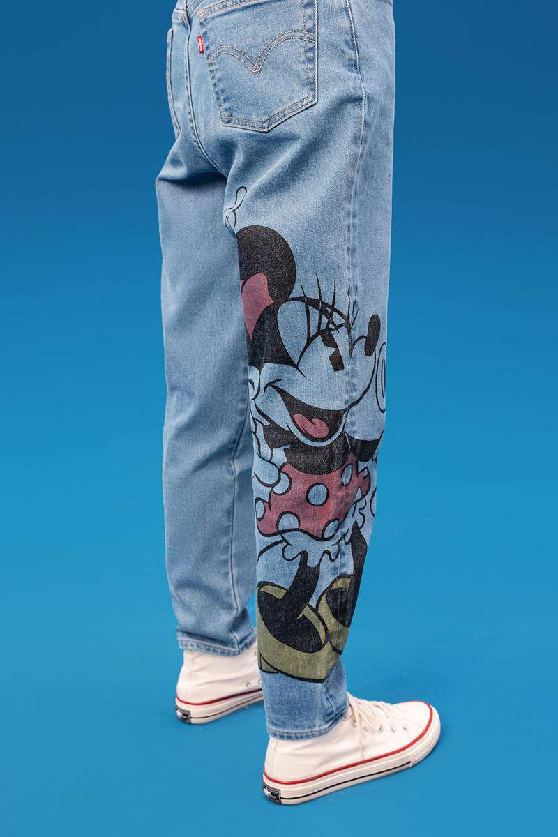 disney levis mickey and friends collaboation denim jeans minnie mouse