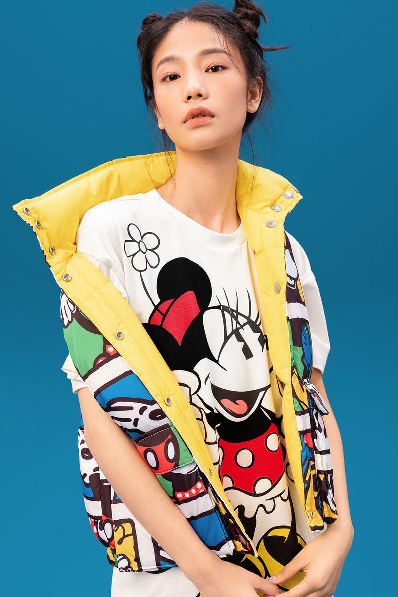disney levis mickey and friends collaboation denim jeans white character minnie mouse shirt vest