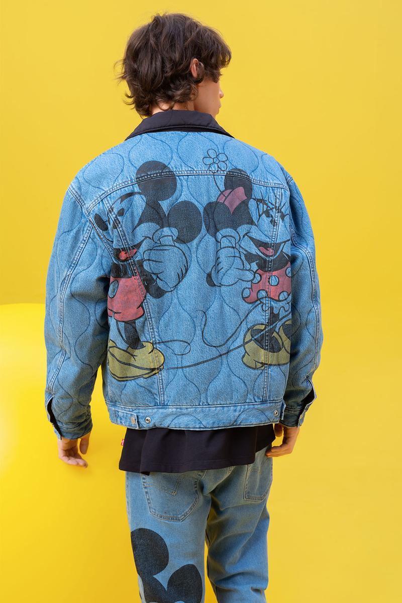disney levis mickey and friends collaboation denim jeans jacket quilted minnie
