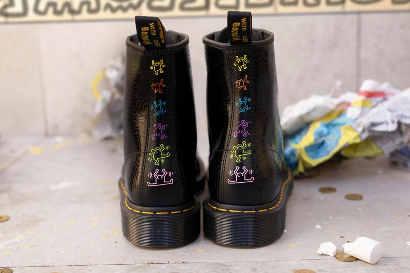 Dr. Martens Keith Haring Collaboration Boots Shoes 1460 Black Patterns Illustrations Art Heel Color