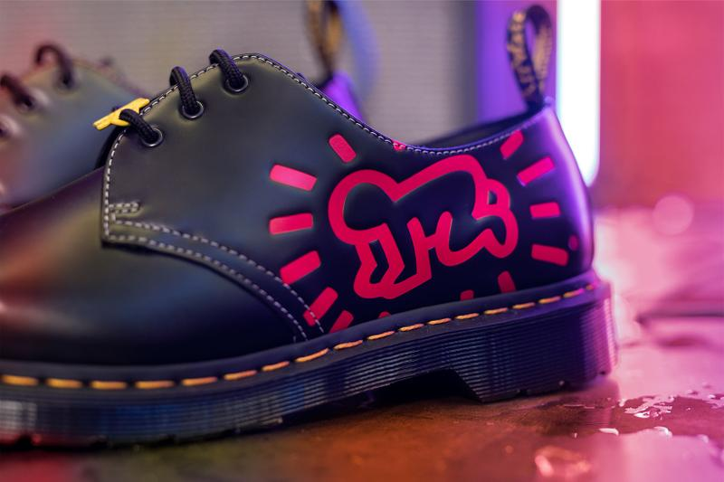 Dr. Martens Keith Haring Collaboration Boots Shoes 1461 Derby Pink Illustrations Drawings Art
