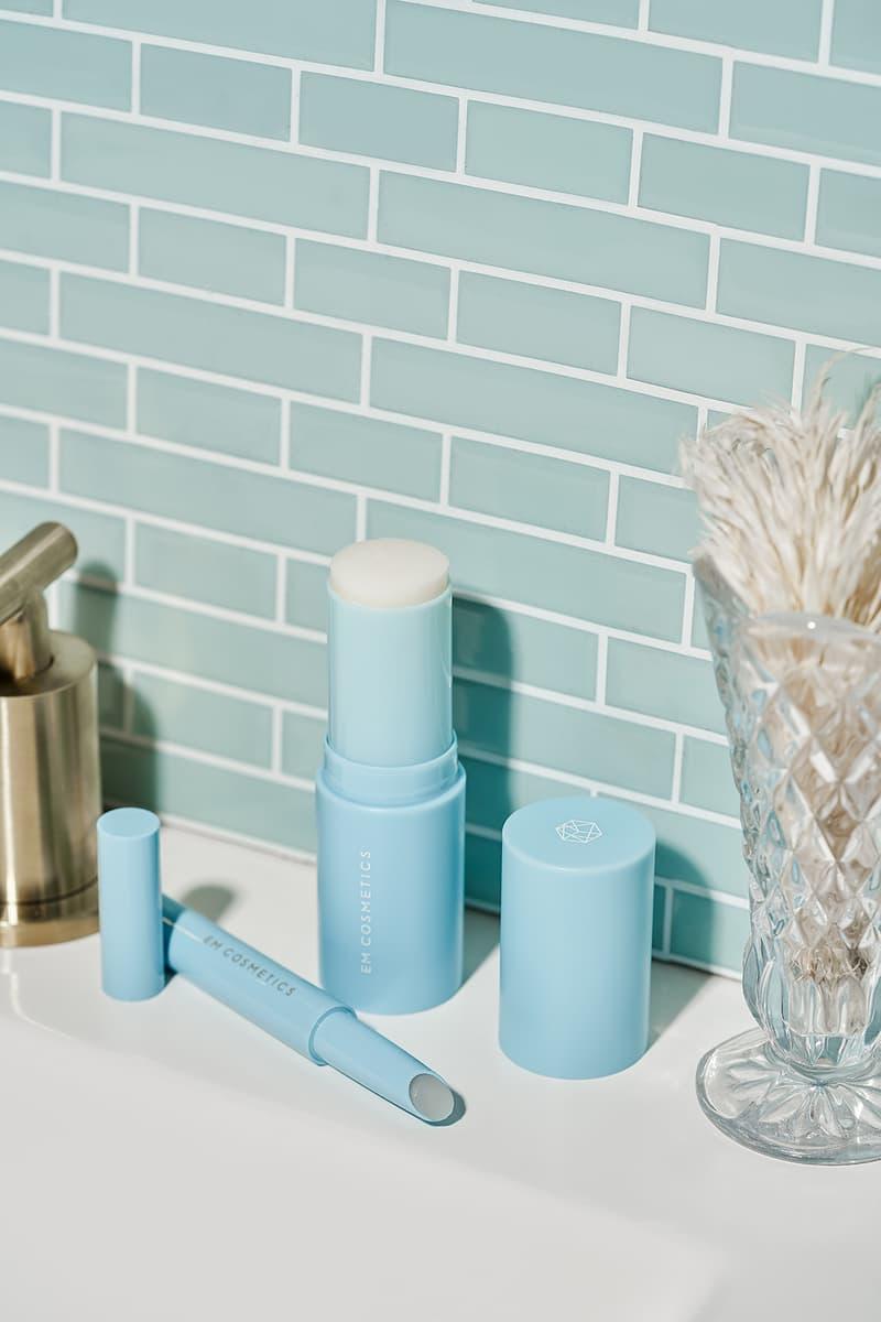 em cosmetics michelle phan face cuddle moisture balm lip cushion skincare beauty blue sink vase