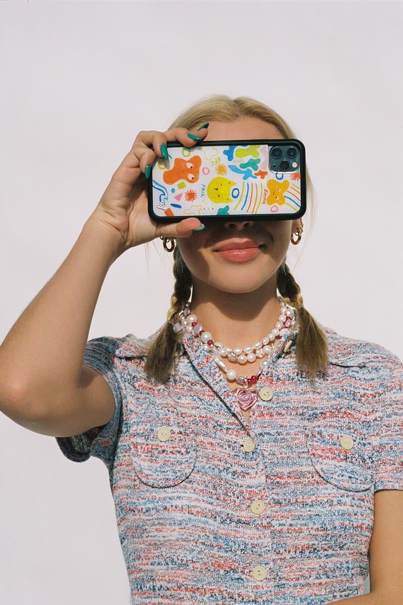 emma chamberlain wildflower iphone cases collaboration portrait braids