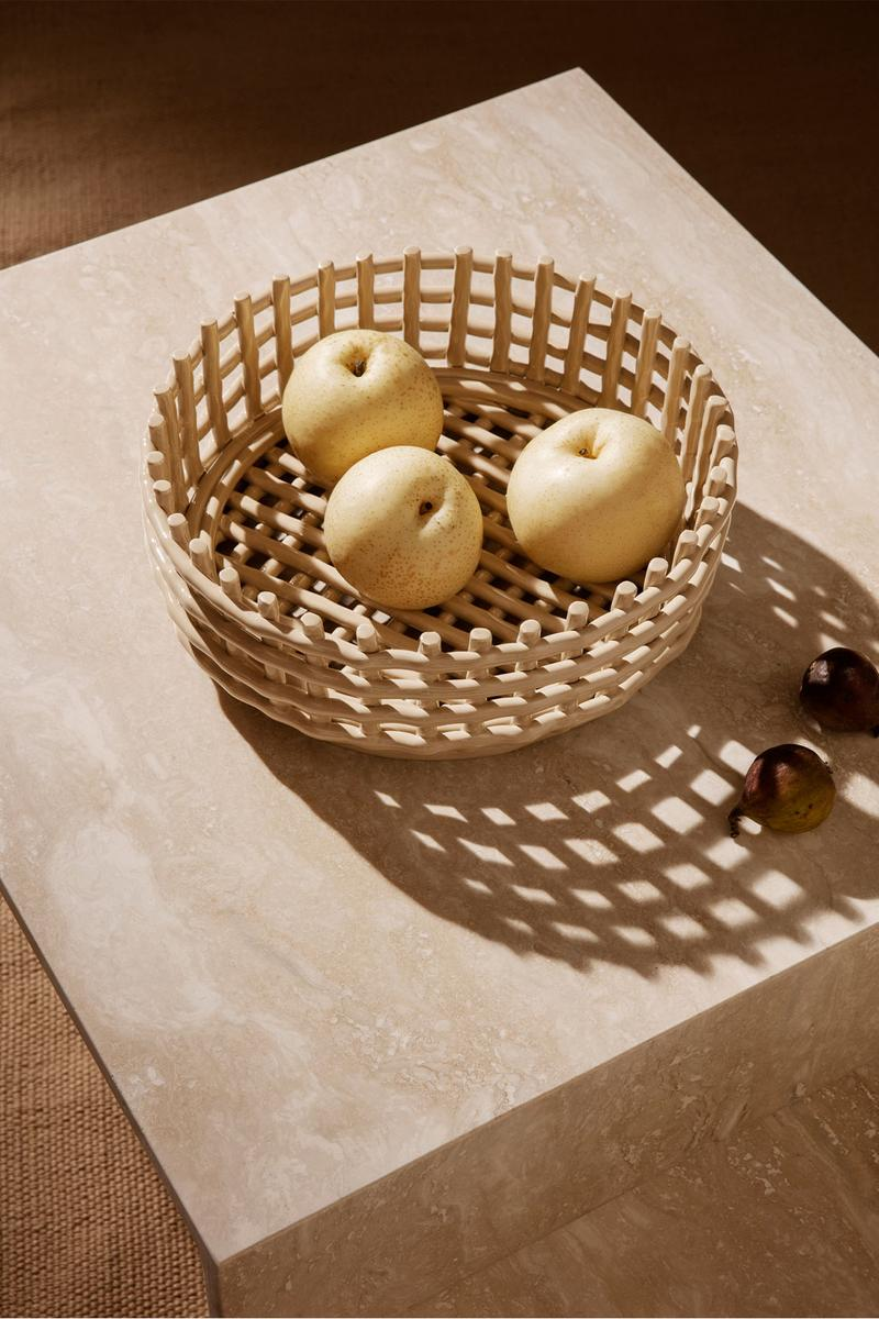 ferm living spring summer ss21 pre collection outdoor poetry furniture homeware ceramic centerpiece fruit bowl