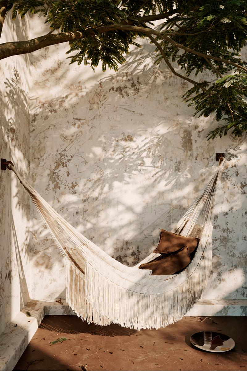 ferm living spring summer ss21 pre collection outdoor poetry furniture homeware hammock path sand