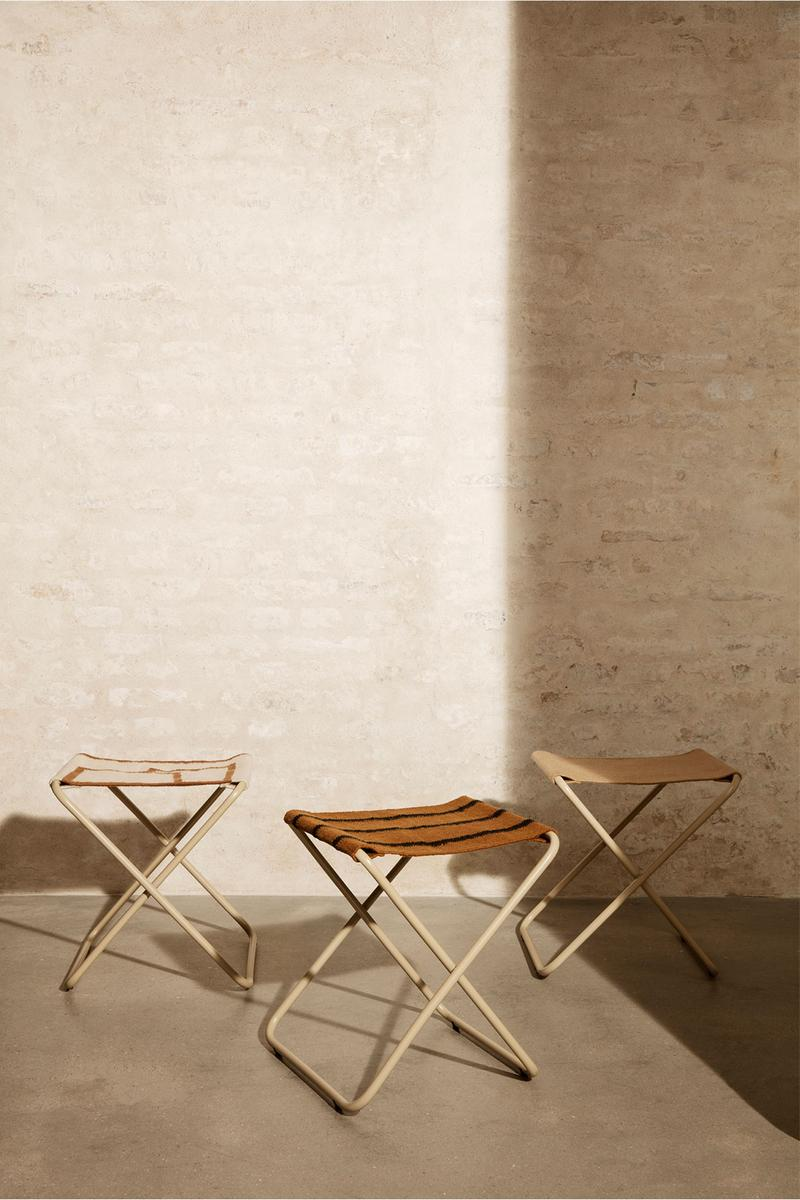 ferm living spring summer ss21 pre collection outdoor poetry furniture homeware stools foldable