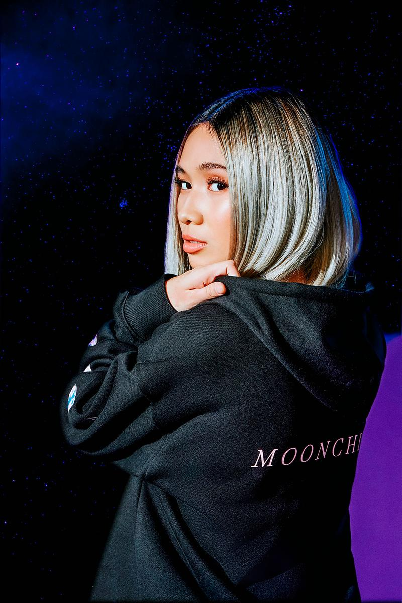guess niki 88rising collaboration moonchild collection black hoodie