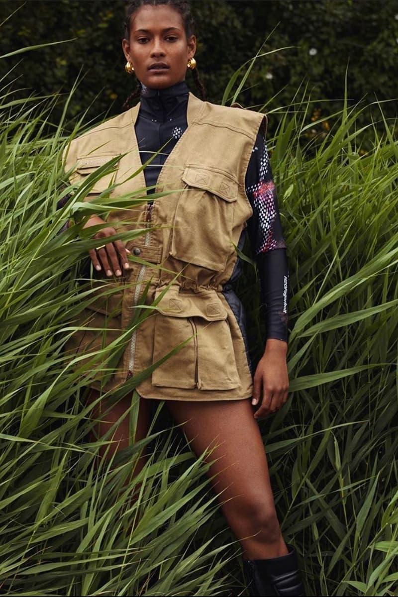 H2OFagerholt Beige Khaki Vest SS21 Collection Lookbook Campaign Loungewear Sportswear Activewear Danish Copenhagen Leisure Sports Brand Julie Bex Fagerholt