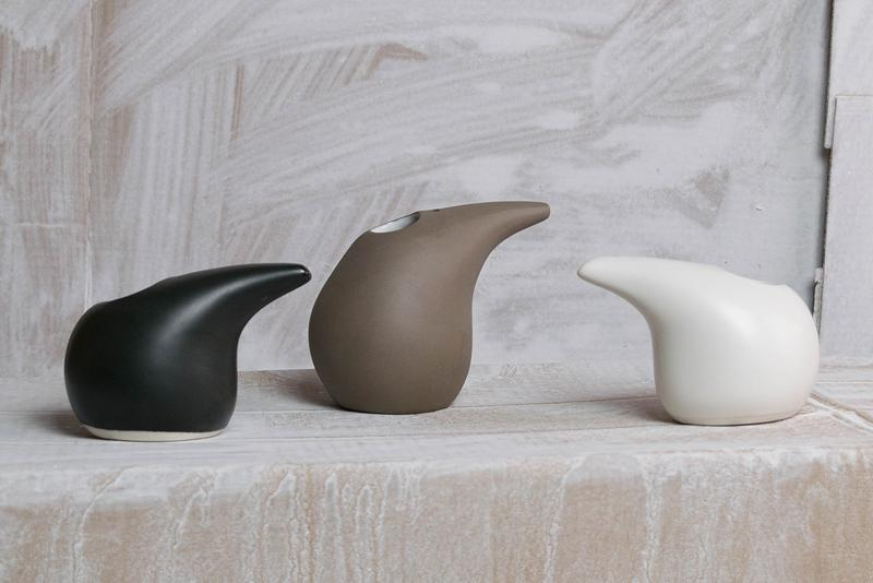Haand Porcelain Vases Ceramics Handmade Black White Brown