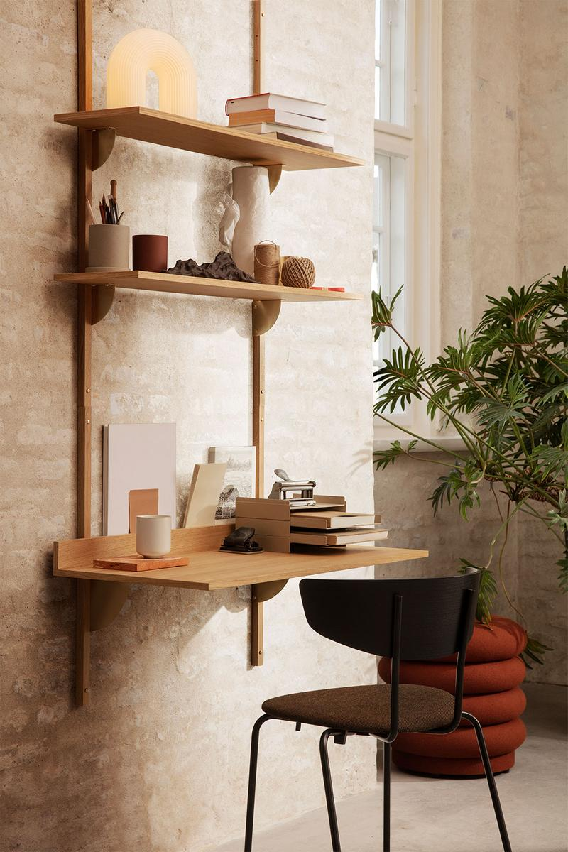 best home office ideas decoration minimal simple space-saving ferm living sector wood desk
