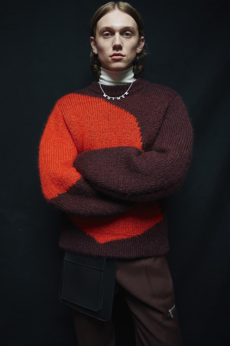 jil sander menswear fall winter fw21 collection lookbook red burgundy knitwear sweater