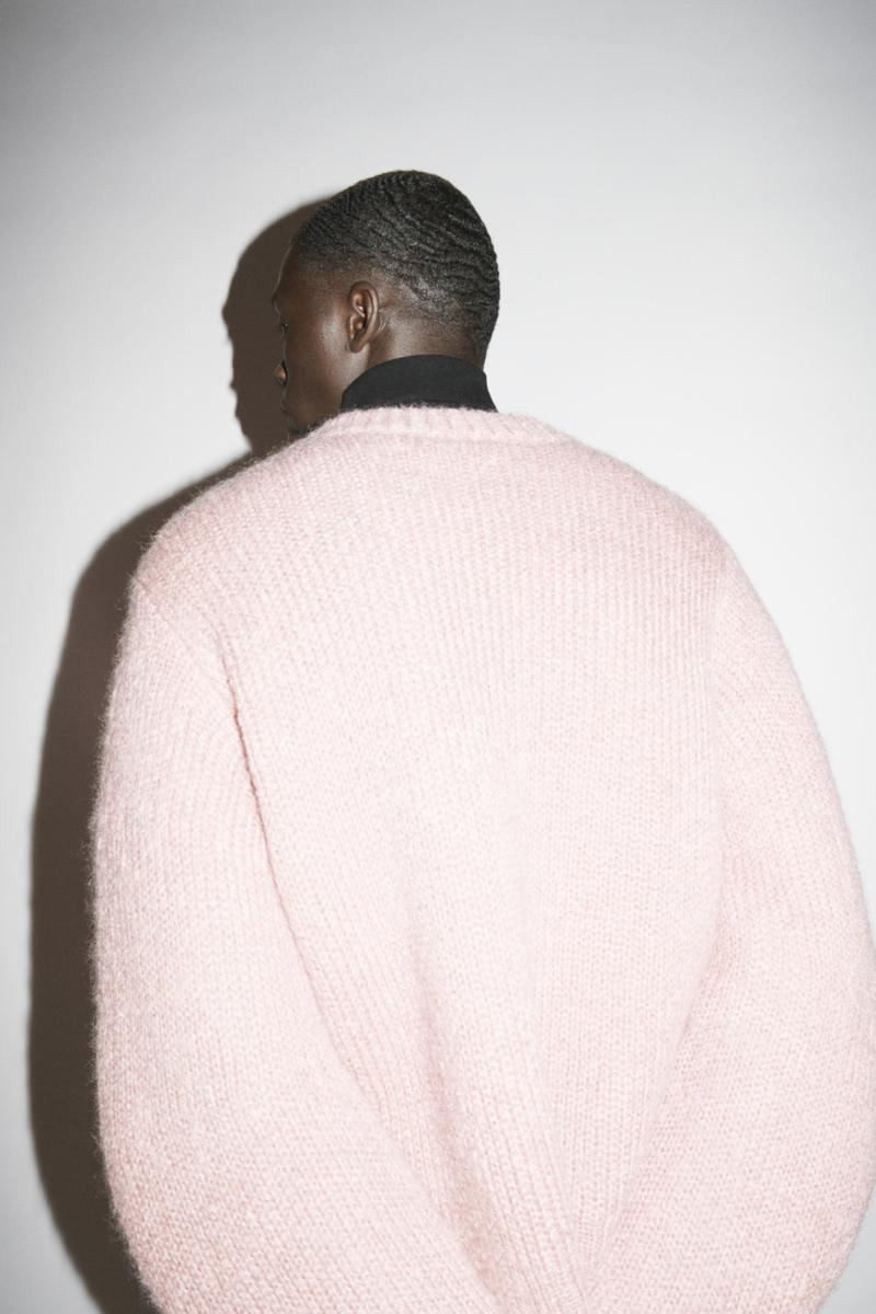 jil sander menswear fall winter fw21 collection lookbook pink pastel sweater knitwear