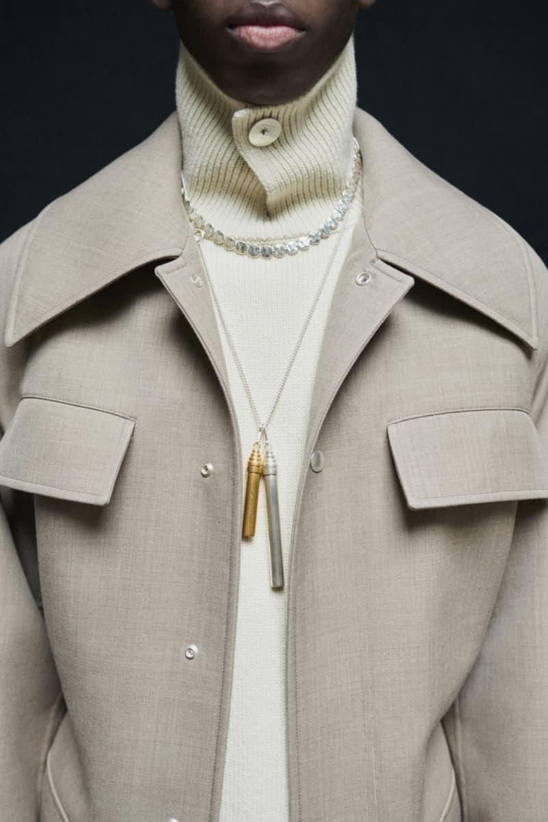 jil sander menswear fall winter fw21 collection lookbook wool jacket coat sweater