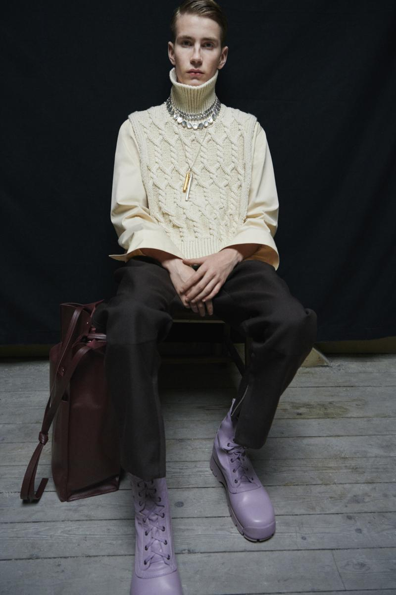 jil sander menswear fall winter fw21 collection lookbook knit ribbed sweater