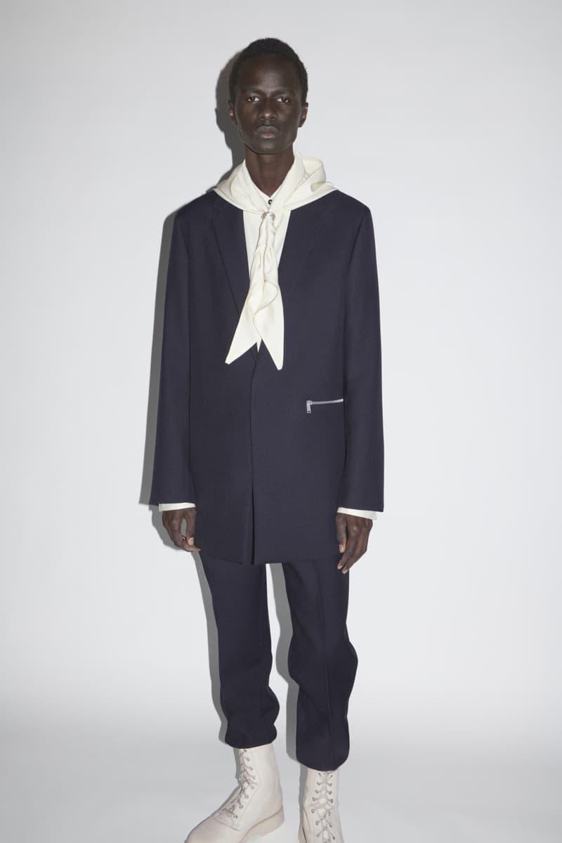 jil sander menswear fall winter fw21 collection lookbook black suit boots