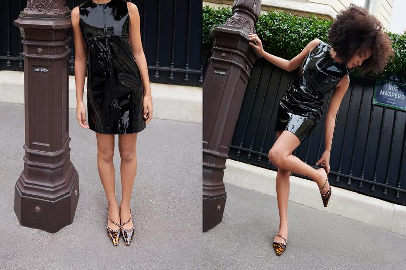 jimmy choo spring collection campaign sharon alexie bing 100 heels brown black dress