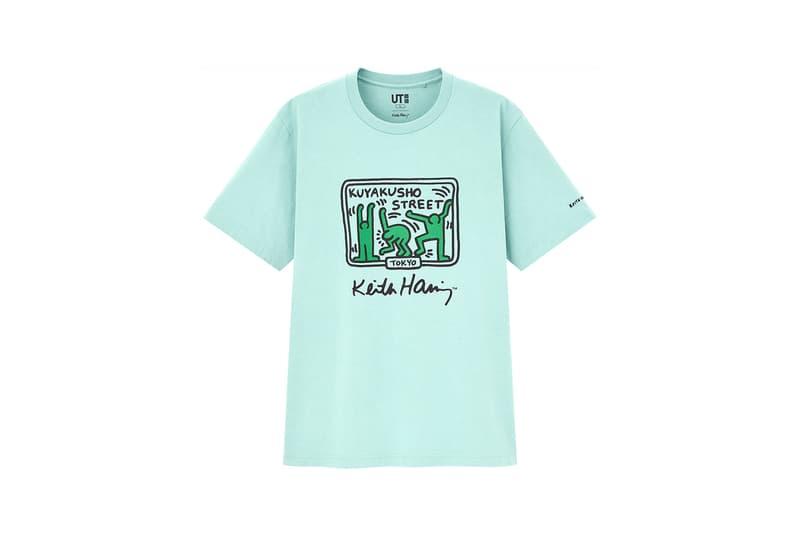 keith haring uniqlo collaboration tees t shirt blue tea kuyakusho street tokyo