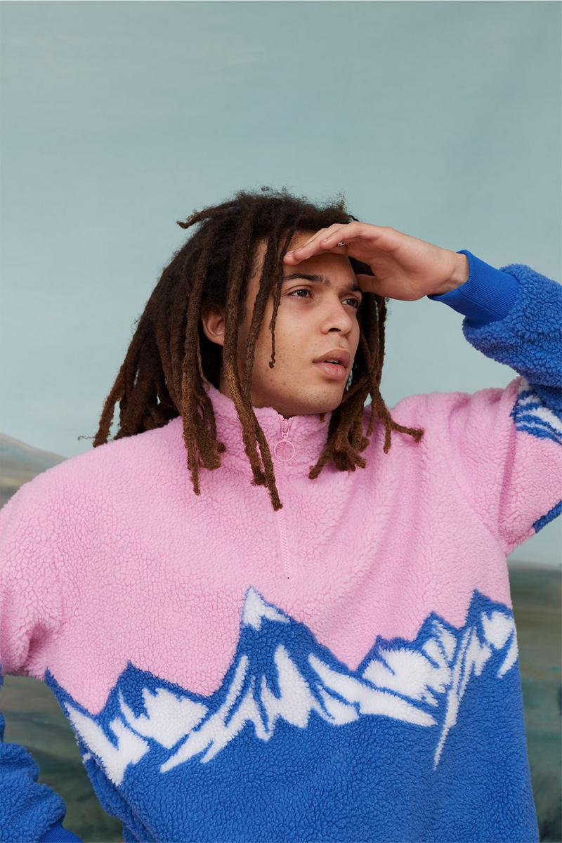 Lazy Oaf Take A Hike Outdoor Hiking Collection Lookbook Mountain Pink Blue Fleece