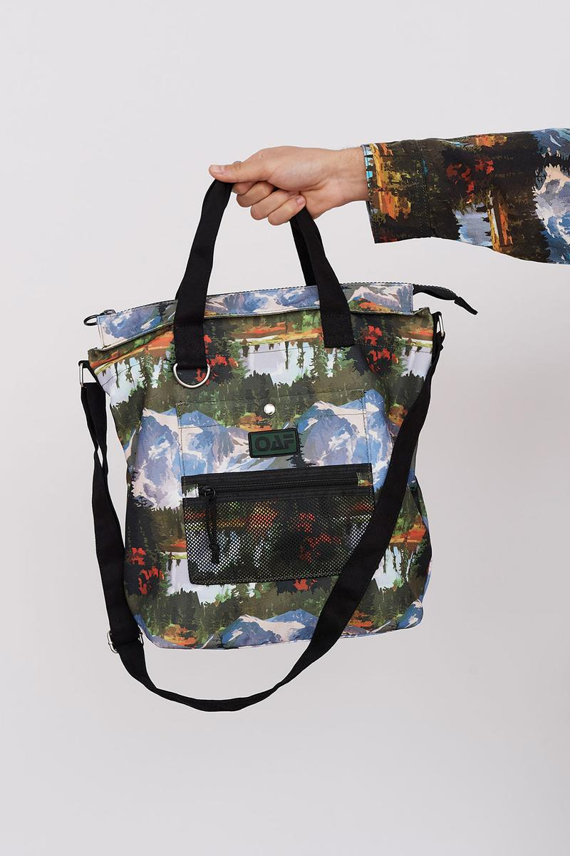 Lazy Oaf Take A Hike Outdoor Hiking Collection Lookbook Tote Bag Print Pattern