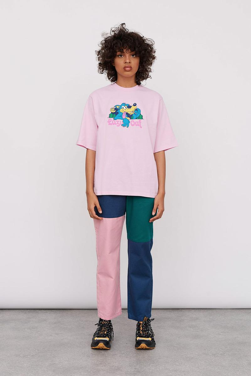 Lazy Oaf Take A Hike Outdoor Hiking Collection Lookbook Pink T-shirt Colorblocked Pants