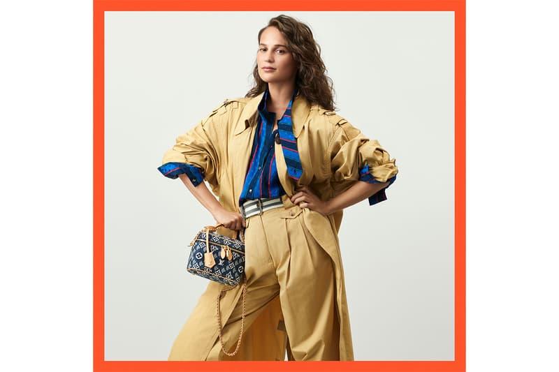 louis vuitton since 1854 blue spring collection handbags monogram jacquard nicolas ghesquiere