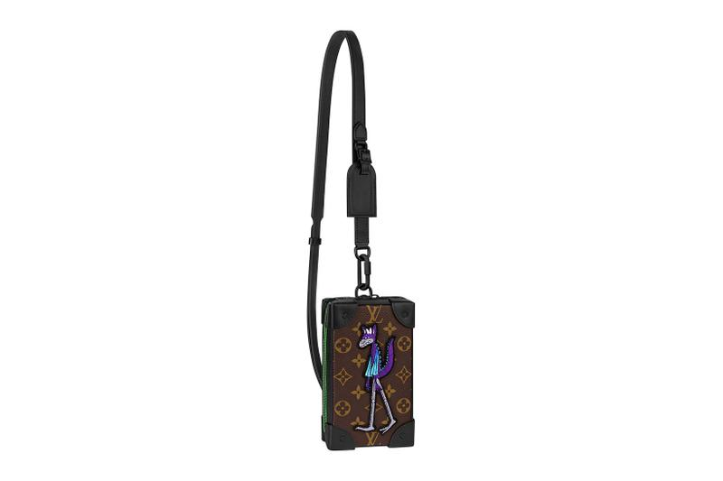 louis vuitton lv mens zoooom with friends spring summer 2021 ss21 collection virgil abloh accessories leather goods soft trunk phone box holder