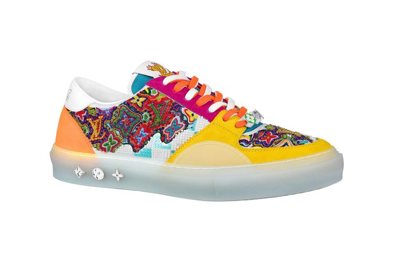 louis vuitton lv mens zoooom with friends spring summer 2021 ss21 collection virgil abloh accessories ollie sneaker colorful embroidery