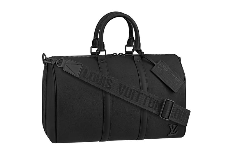 louis vuitton lv mens zoooom with friends spring summer 2021 ss21 collection virgil abloh accessories leather goods keepall black