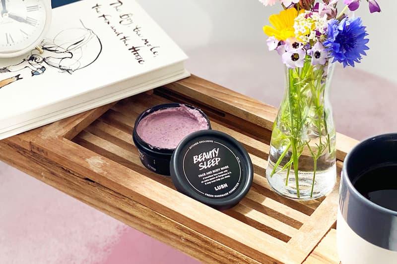 lush cosmetics beauty sleep face and body mask bathtub