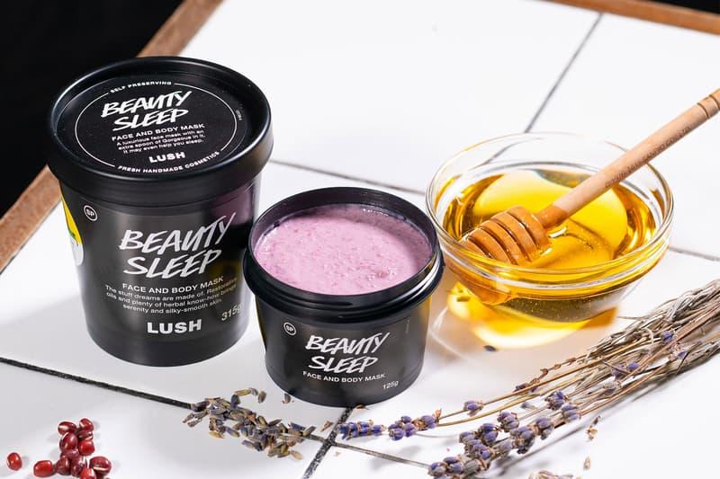 lush cosmetics beauty sleep face and body mask honey