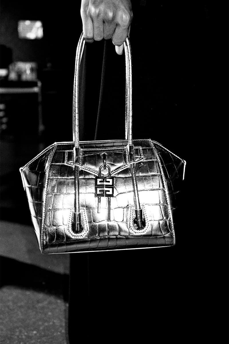 givenchy matthew williams unisex antigona handbags accessories silver metallic leather