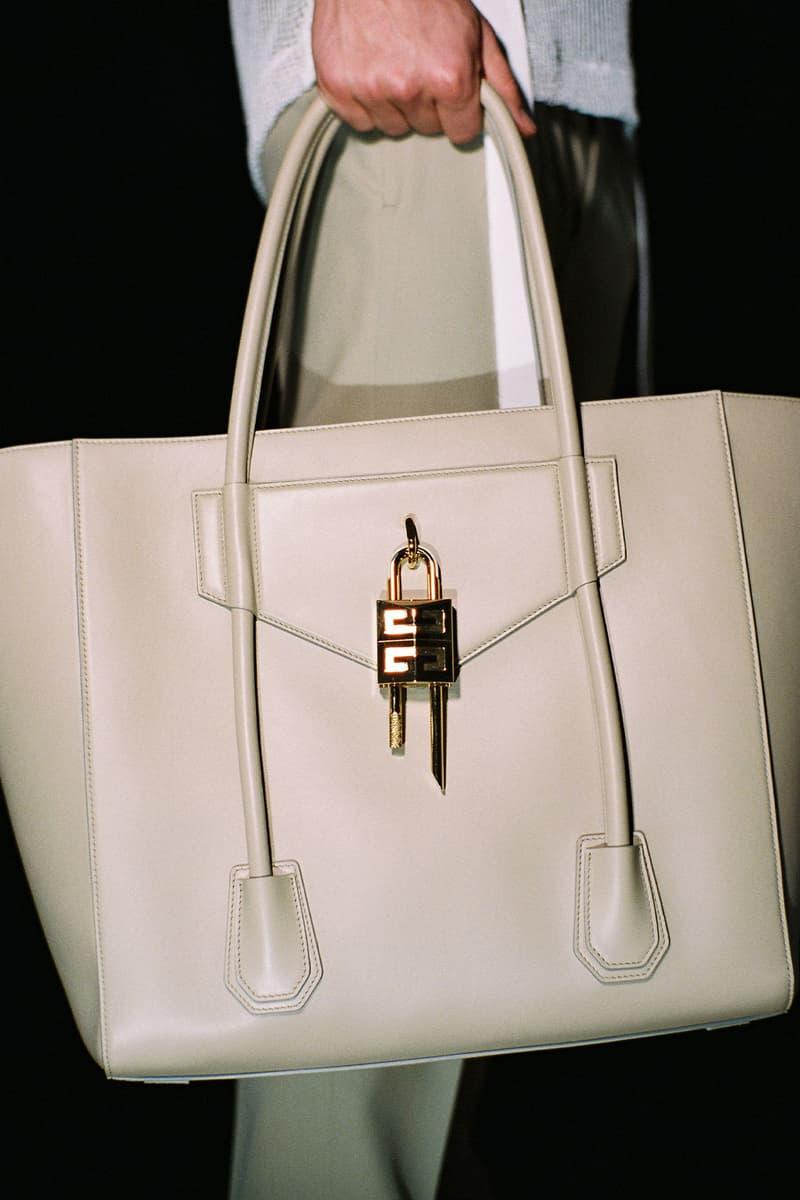 givenchy matthew williams unisex antigona handbags accessories ivory silver gold hardware logo padlock keys