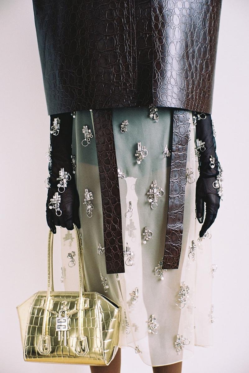 givenchy matthew williams unisex antigona handbags accessories metallic gold leather dress