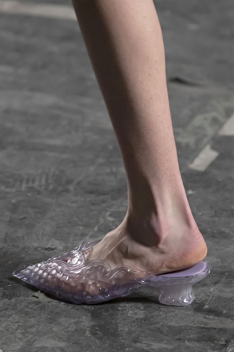 melissa yproject mules heels court jelly shoe sustainable collaboration clear transparent runway
