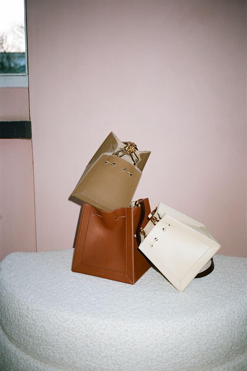 nanushka pre-fall 2021 collection lookbook handbags purses accessories