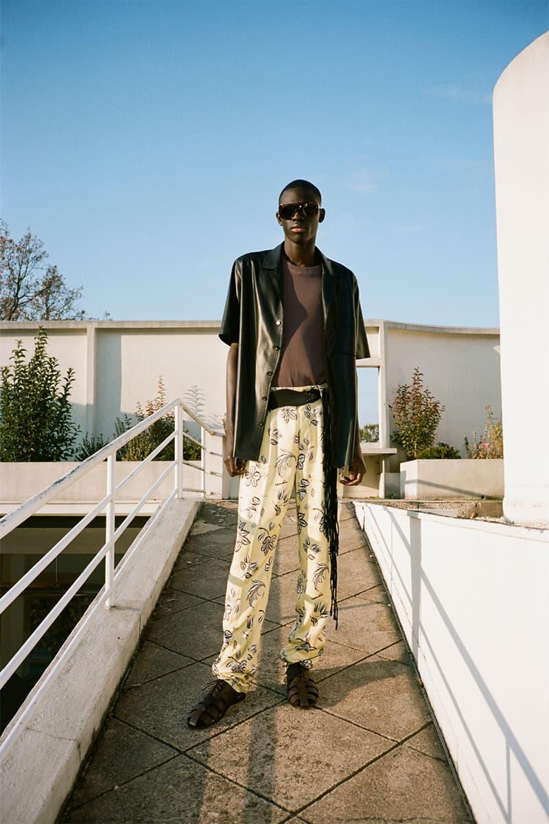 nanushka pre-fall 2021 collection lookbook menswear pattern print trousers
