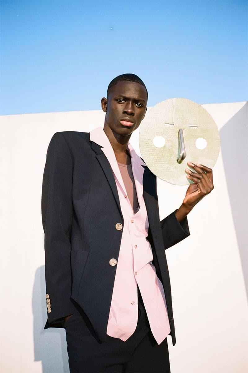 nanushka pre-fall 2021 collection lookbook menswear suit jacket blazer