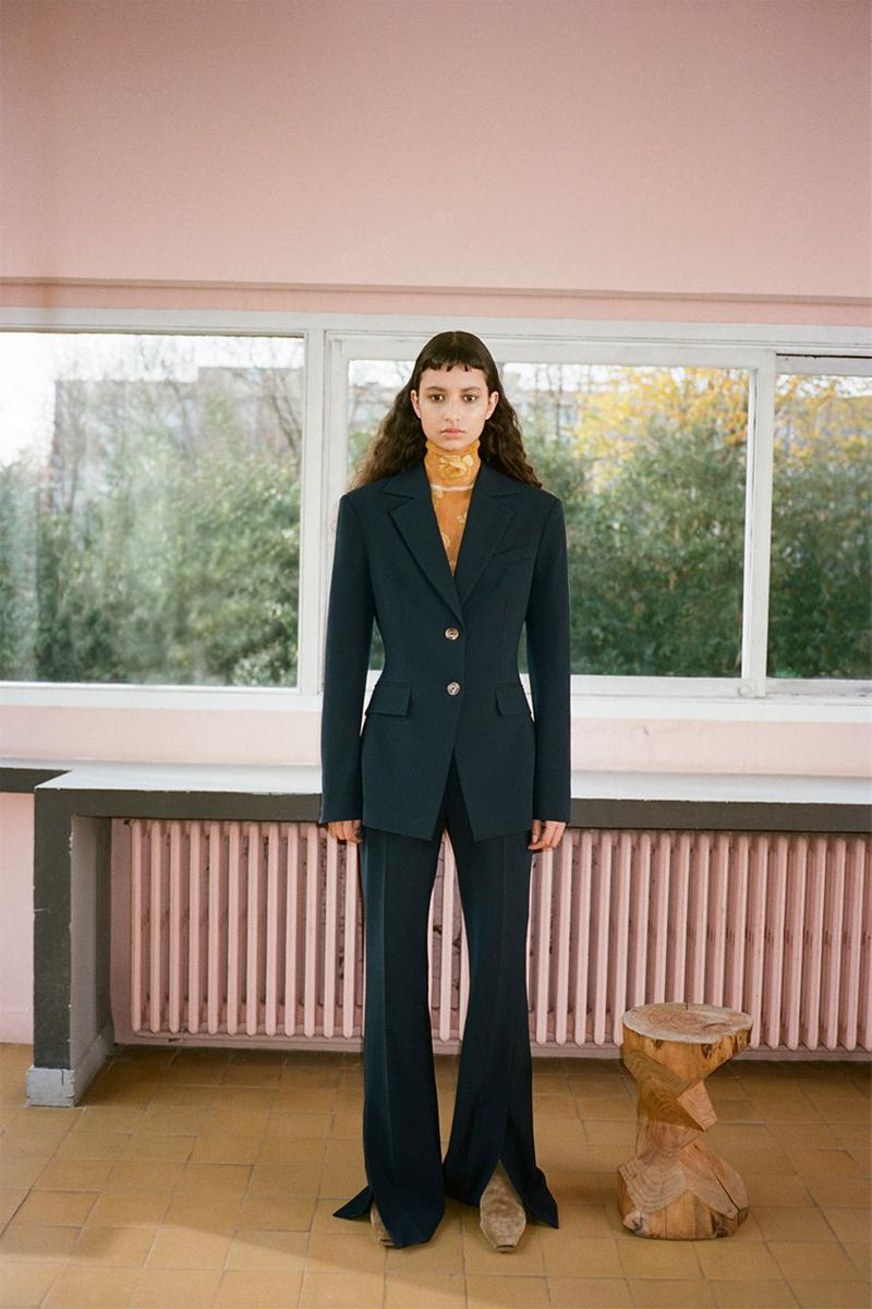 nanushka pre-fall 2021 collection lookbook suit set jacket blazer