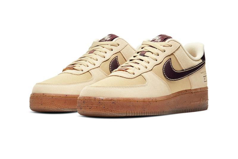 nike air force 1 af1 low coffee lateral front toe swoosh brown hazel cream ivory