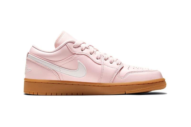 nike air jordan 1 aj1 low sneakers arctic pink colorway black white brown shoes footwear sneakerhead lateral laces