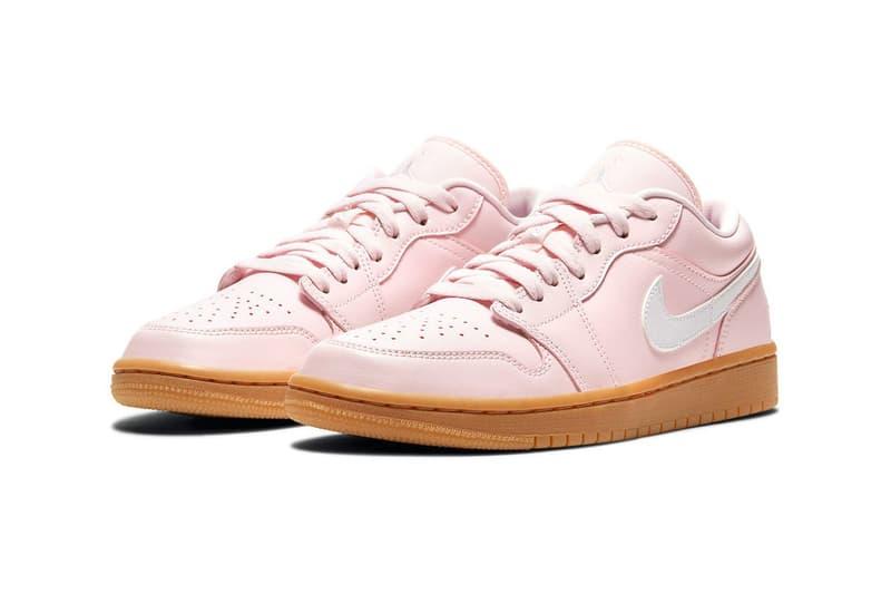 nike air jordan 1 aj1 low sneakers arctic pink colorway black white brown shoes footwear sneakerhead laces