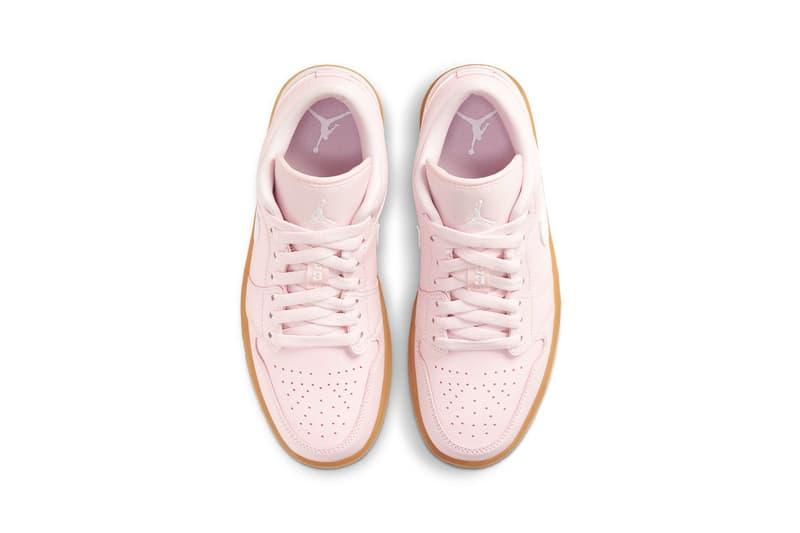 nike air jordan 1 aj1 low sneakers arctic pink colorway black white brown shoes footwear sneakerhead insole