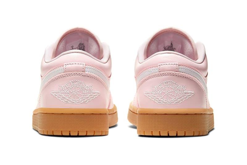 nike air jordan 1 aj1 low sneakers arctic pink colorway black white brown shoes footwear sneakerhead heel