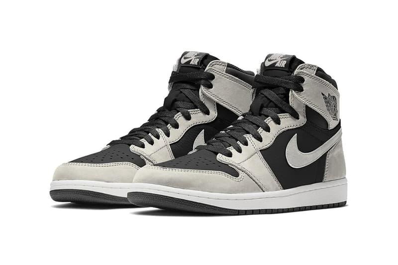nike air jordan 1 high og sneakers black smoke grey white colorway sneakerhead shoes footwear