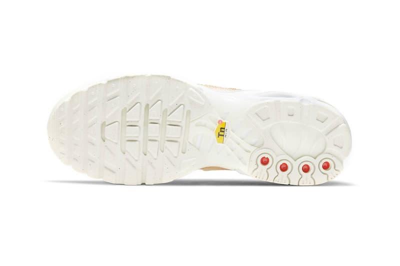 nike air max plus sneakers pink snakeskin print white colorway sneakerhead footwear shoes sole