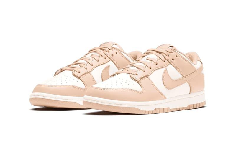 nike dunk low womens sneakers pastel pink orange pearl colorway footwear shoes sneakerhead