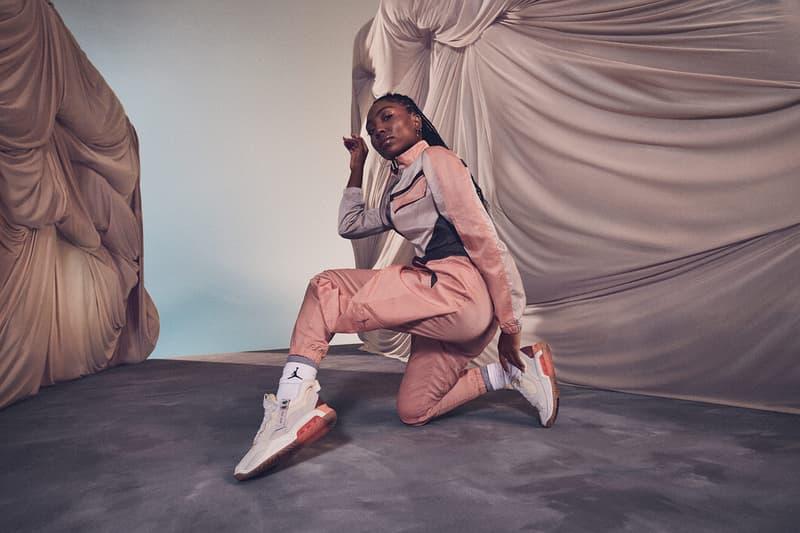 nike jordan brand future primal womens collection ma 2 sneakers jacket pants socks pink
