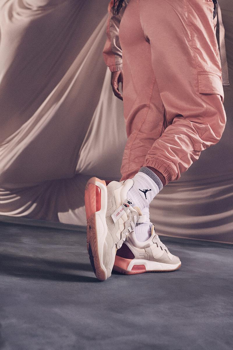 nike jordan brand womens ma 2 sneakers socks pink sneakerhead footwear close up shoes pants